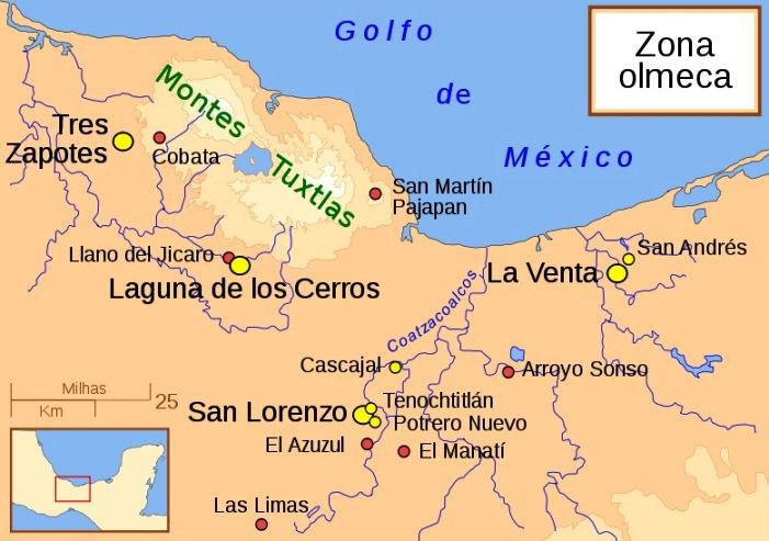 Ubicación de la cultura Olmeca
